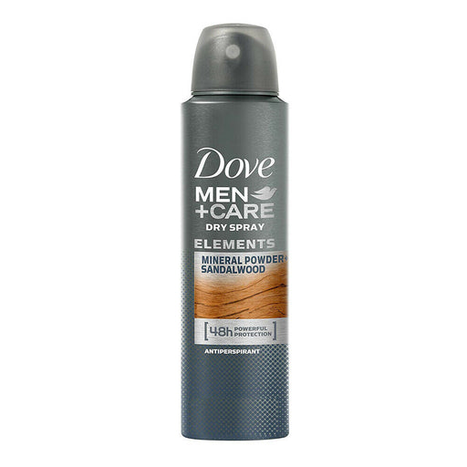 Dove Men + Care Elements Mineral Sandalwood Deodorant Antiperspirant Spray 150ml