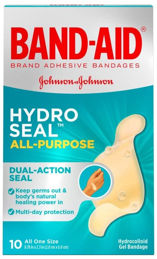 Band-Aid Brand Adhesive Bandages Hydro Seal for All Purpose, Fingers, and Blisters