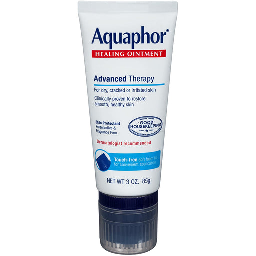 Aquaphor Healing Ointment with Touch Free Applicator For Dry & Cracked Skin - 3oz
