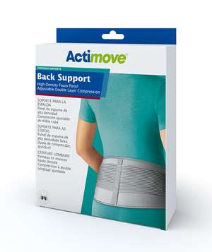 Actimove Back Support High-Density Foam Panel Adjustable Double Layer Compr.