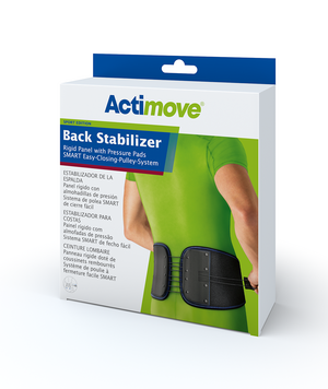 Actimove Back Support Rigid Panel, Pressure Pads, Easy-Closing-Pulley-System