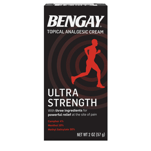 Ultra Strength Bengay Non-Greasy Topical Pain Relief Cream, 2 oz