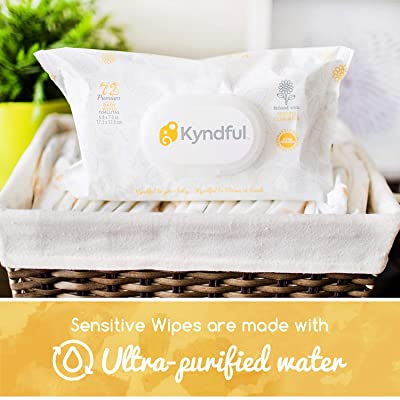 Kyndful Organic Baby Wipes. Organic Chamomile - Fragrance Free, 0% Alcohol or Paraben