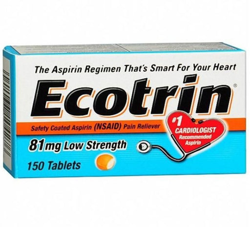 Ecotrin 81 mg Safety Coated Enteric Aspirin, Low Strength Tablets 150 ea