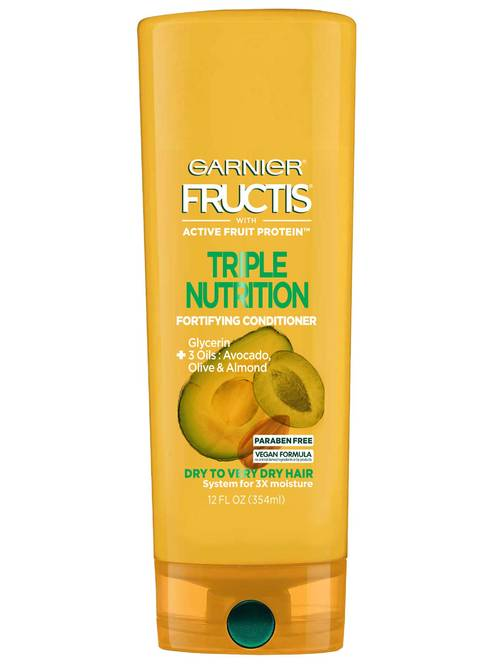 Garnier Fructis Triple Nutrition Conditioner, Dry to Very Dry Hair, 12 oz.