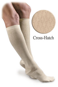 Activa Sheer Therapy Women's Patterned Dress Socks Lite Support MODEL: H28 Cross-Hatch Pattern