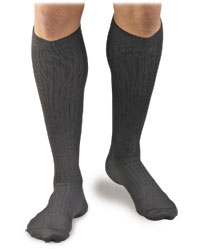 Activa Men's Microfiber Pin Stripe Dress Socks Firm Support, Class I  MODEL: H34