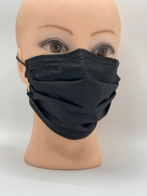 Premium Comfort Disposable Mask, box of 50 masks. (Black)