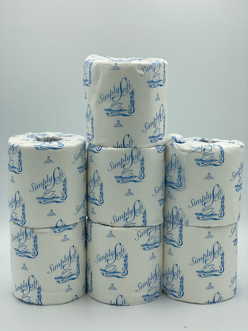 7 packs of Simply Soft Toilette Paper Roll