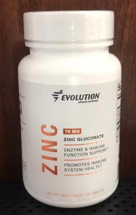 Combo Evolution Zinc Gluconate 76 mg + 1 extra bottle of 60 tablets.
