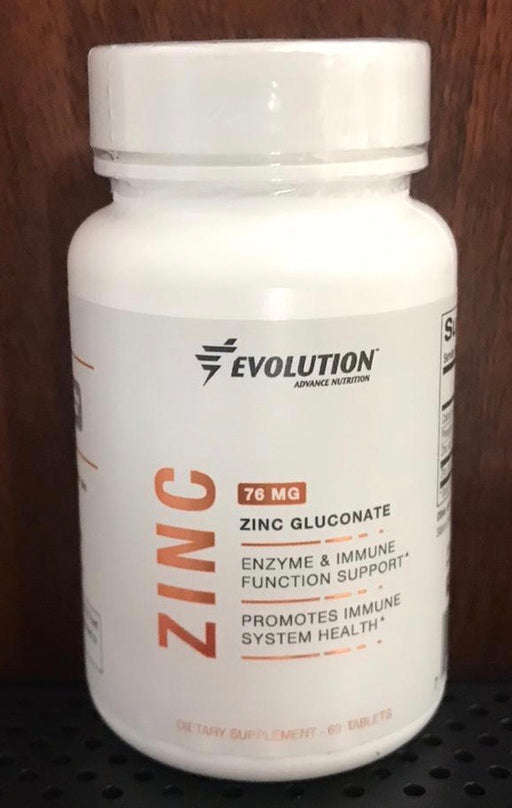 Evolution Zinc Gluconate 76 mg, 60 tablets