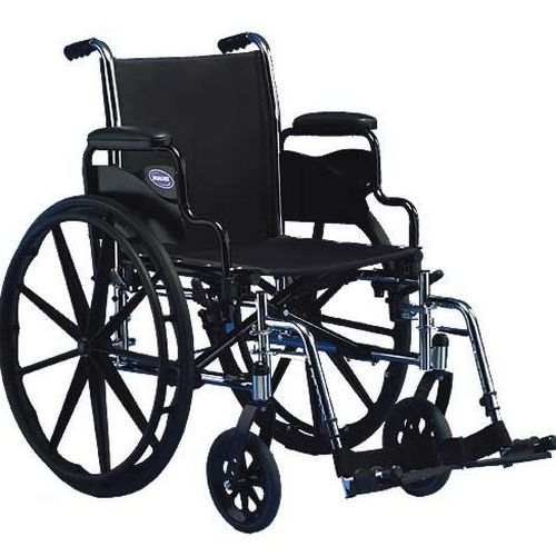 "Invacare Tracer Sx5 Wheelchair 20"" x 16"" with Desk Length Flipback Arm"