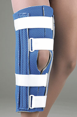 FLA ORTHOPEDICS BREATHABLE UNIVERSAL CUTAWAY KNEE IMMOBILIZER