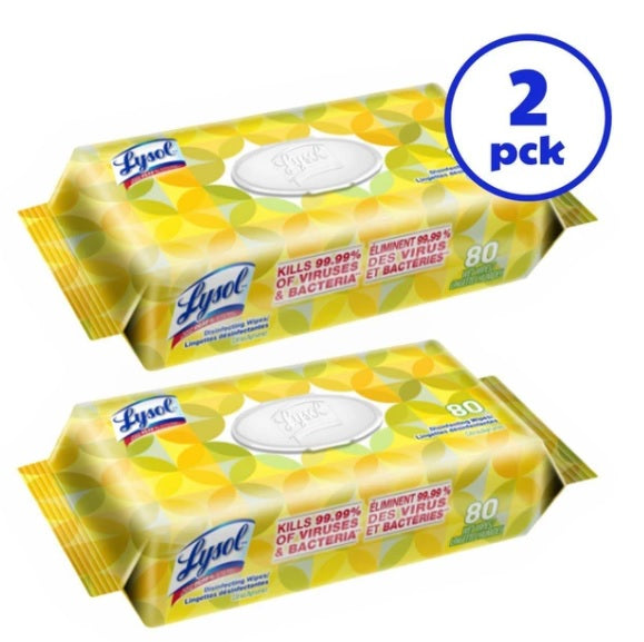 Lysol Disinfecting Wipes (80 ct)