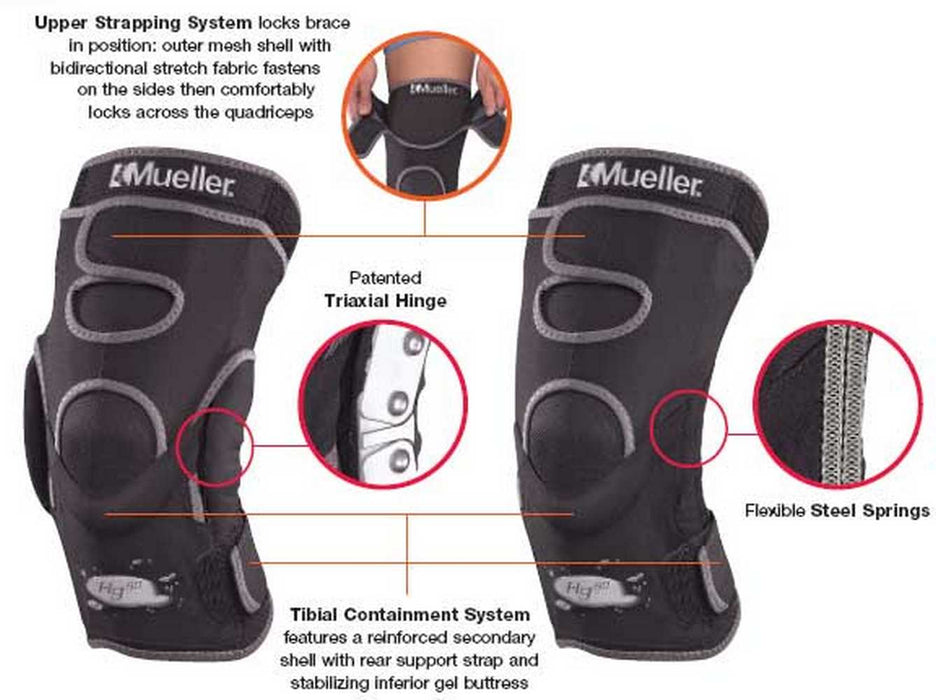 Mueller KNEE Hg80 Hinged Knee Brace, size Small