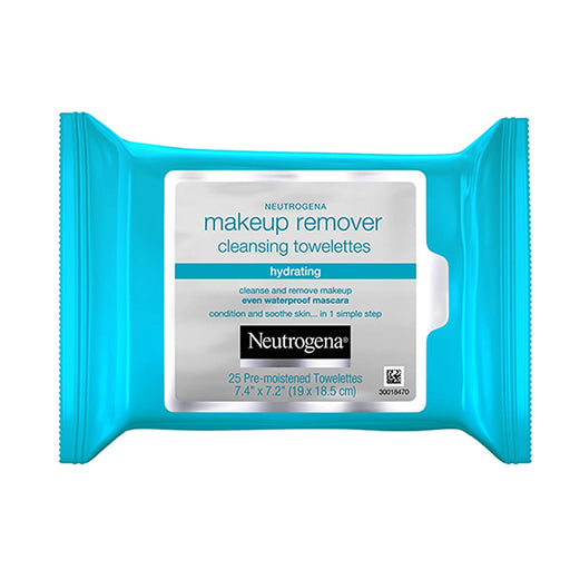 Neutrogena Hydrating Makeup Remover Face Wipes, Pre-Moistening Facial Cleansing Towelettes to Condition Skin & Remove Dirt, Oil, Makeup & Waterproof Mascara, Alcohol-Free