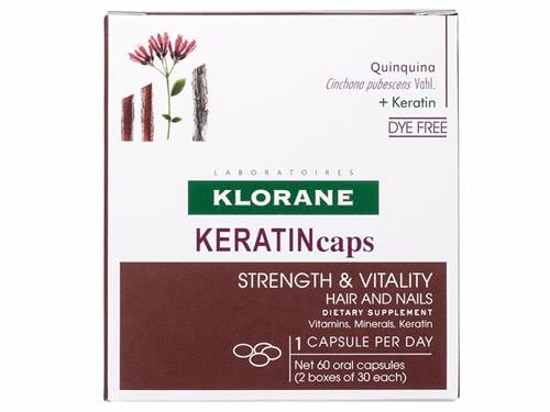 Klorane KERATIN Caps Hair and Nails Dietary Supplements 60 caps