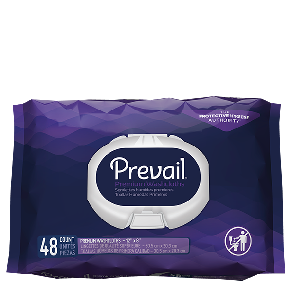 Prevail Adult Washcloths X 48