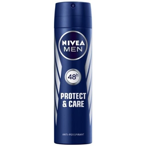 Nivea Men Protect & Care Deodorant Antiperspirant Quick Dry Spray, 48 Hour Protection, 150ml