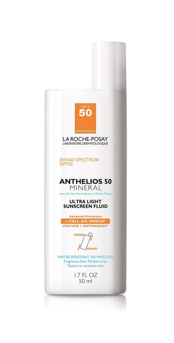 La Roche-Posay Anthelios 50 Mineral Ultra Light Sunscreen Fluid SPF 50 1.7 Oz