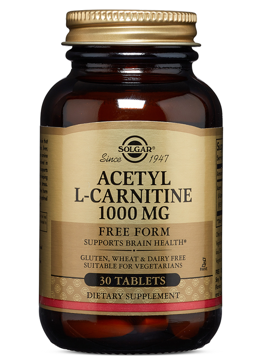 Solgar Acetyl L-Carnitine 1000 mg Tablets