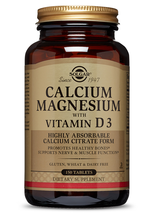 Solgar Calcium Magnesium with Vitamin D3 Tablets