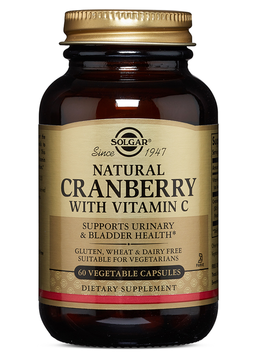 Solgar Natural Cranberry with Vitamin C Vegetable Capsules