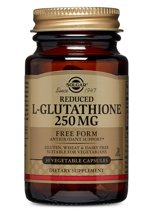 Solgar Reduced L-Glutathione 250 mg Vegetable Capsules