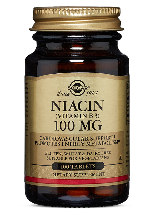 Solgar Niacin (Vitamin B3) 100 mg Tablets