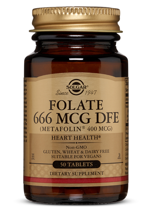 Solgar Folate 400 mcg (as Metafolin) Tablets