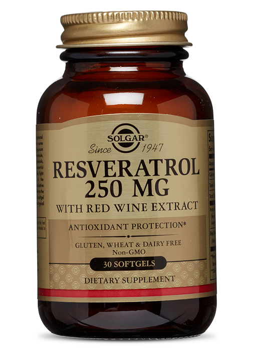 Solgar Resveratrol 250 mg with Red Wine Extract Softgels