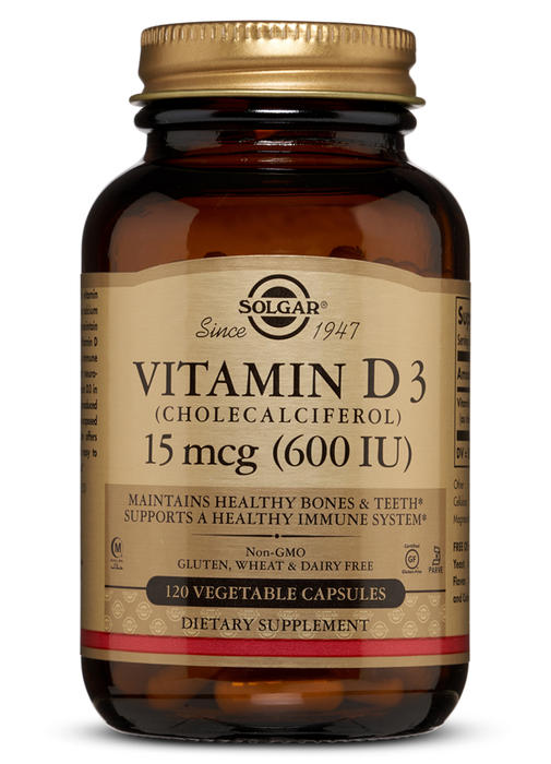 Solgar Vitamin D3 (Cholecalciferol) 600 IU Vegetable Capsules