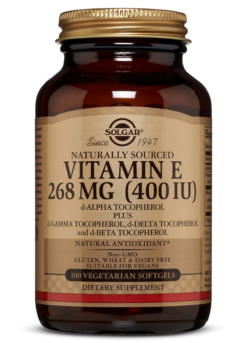 Solgar Vitamin E 400 IU Vegetarian Softgels (400 IU d-Alpha Tocopherol & Mixed Tocopherols)