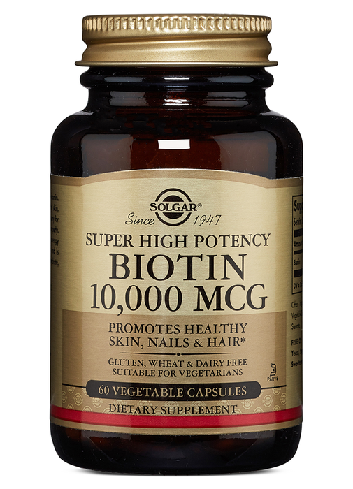 Solgar Biotin 10,000 mcg Vegetable Capsules