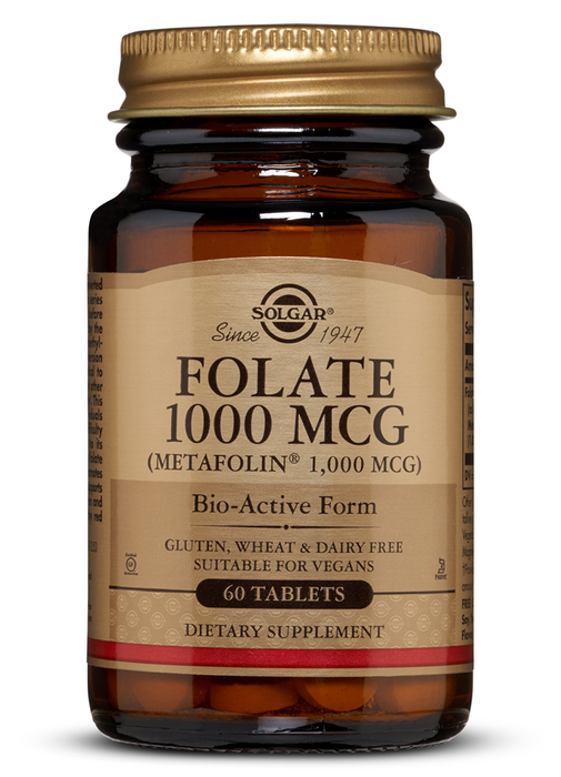 Solgar Folate 1000 mcg (as Metafolin) Tablets