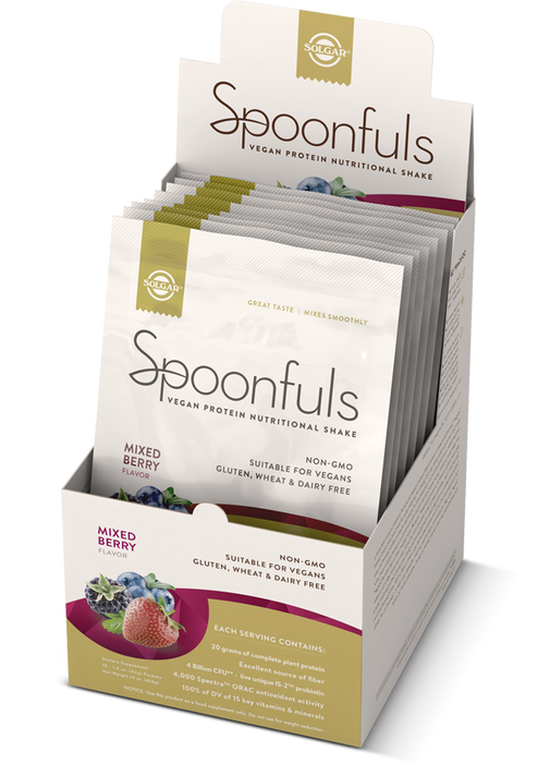 Solgar Spoonfuls Vegan Protein Powder- Mixed Berry