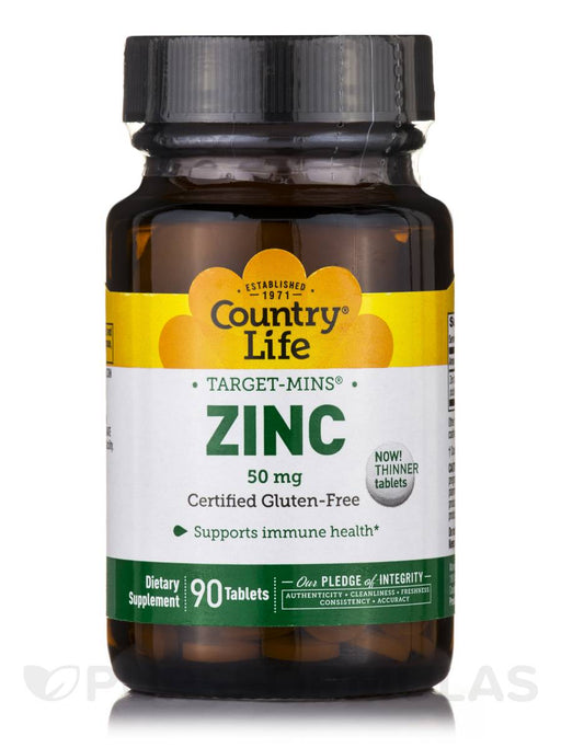 Country Life Target Mins Zinc 50Mg Tablets, 90 Count
