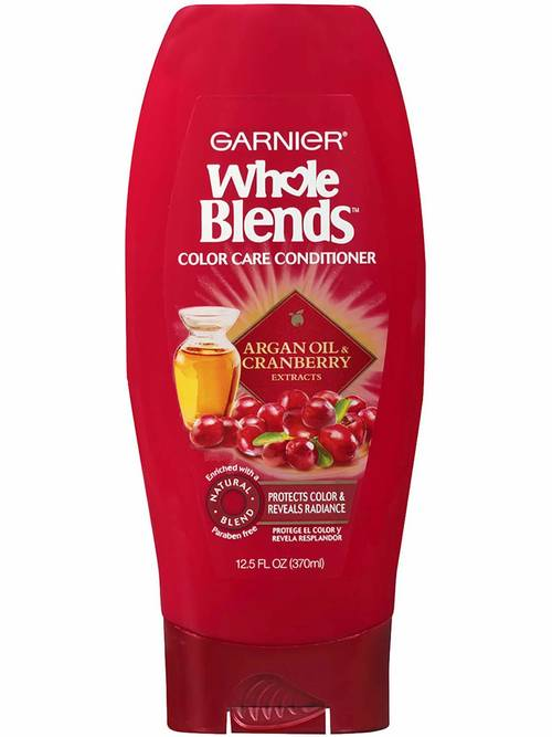 Garnier Whole Blends Conditioner with Argan Oil & Cranberry Extracts, Color Care, 12.5 oz.