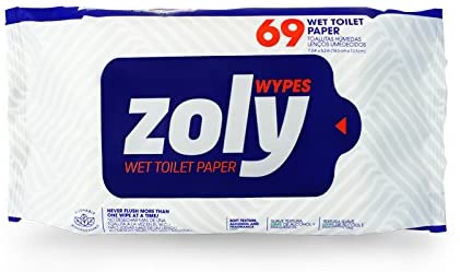 Zoly Wet Toilet Paper - 69 Counts