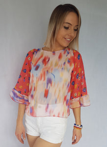 HAZE RUFFLE TOP