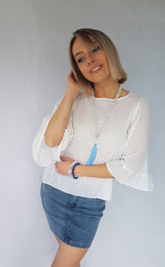 PRETTY POP RUFFLE TOP
