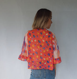 SUNSET RUFFLE TOP