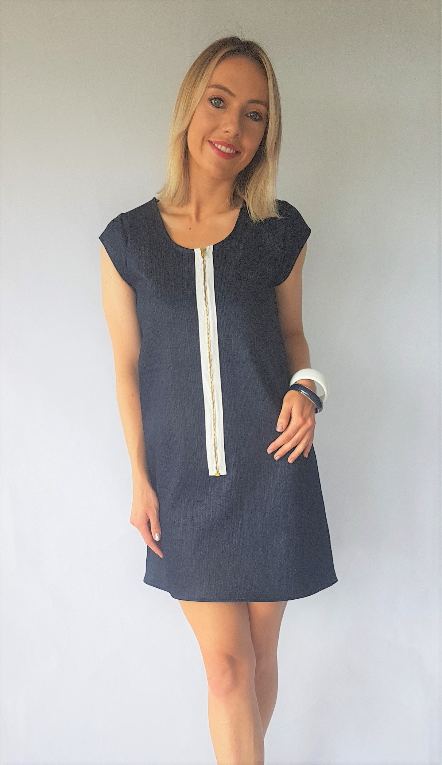DENIM CAP FLO DRESS