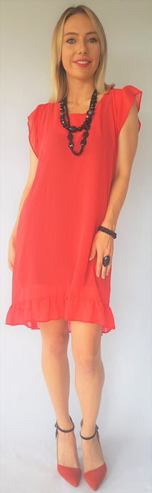 FIRE RUFFLE DRESS