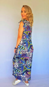 STRIDE MAXI HILOW DRESS