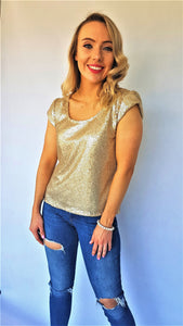 DIVA SEQUIN TOP