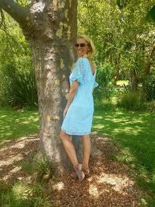 BLUE SKIES LACEY DRESS