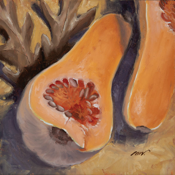 OAK LEAVES AND SQUASH - 6x6 inch