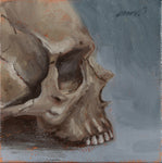 SKULL IN PROFILE - 3X3 inch