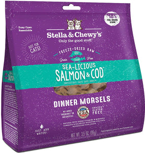 Sea-Licious Salmon & Cod Dinner Morsels 3.5 oz. | Stella & Chewy's